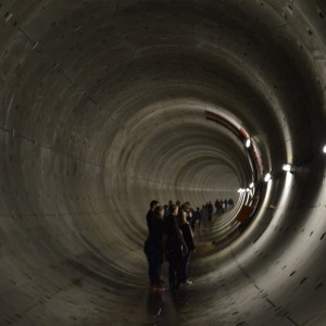 Tunnel With Line Of People 1